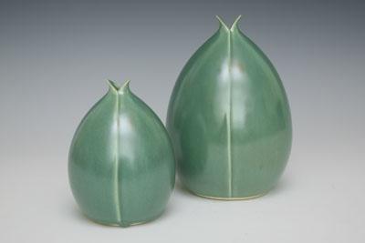 split pod vases by whitney smith