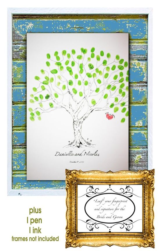 Wedding guests, baby shower, family tree. adore. For Jessica