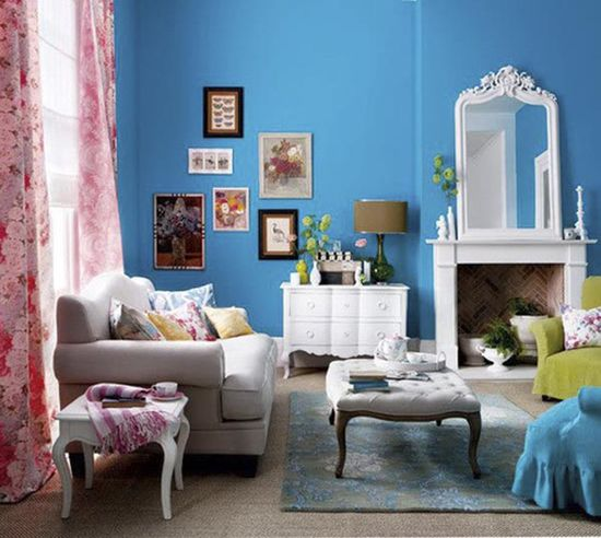 Colorful Eclectic Living Room Design