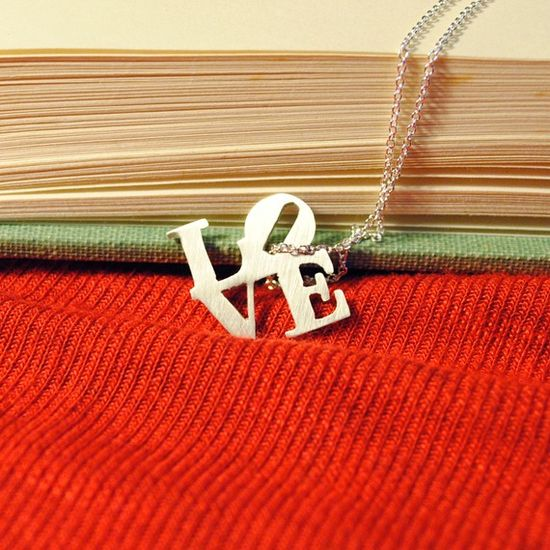 Sterling Love Necklace by BathtubJungle on Etsy, $40.00