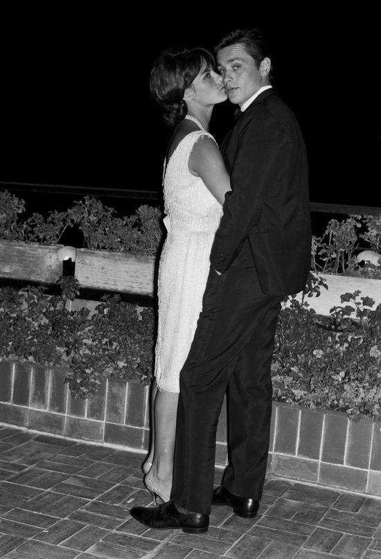 Alain Delon con Nathalie en la Ciudad de México, 1965.