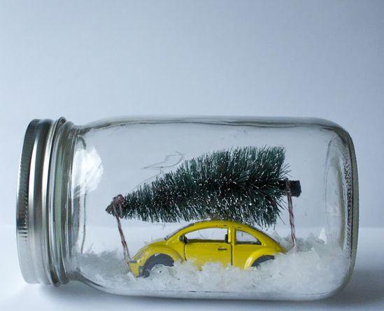 Winter Scene Mason Jars - Poppytalk