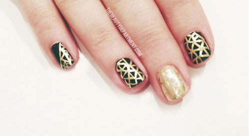 create nail art with a Sharpie