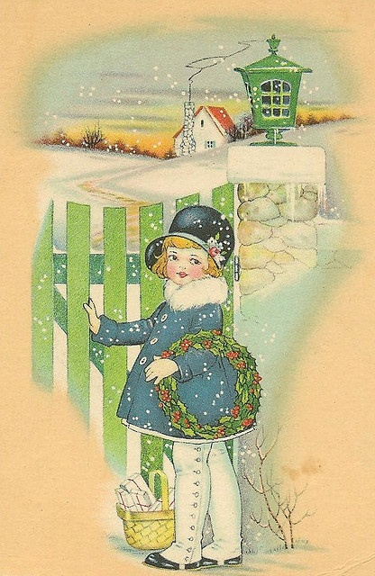 litle girl at gate by in pastel, via Flickr