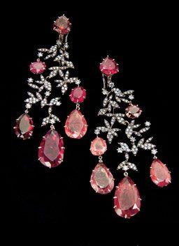Pink Tourmalines & Diamonds