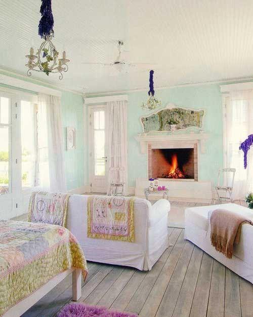Shabby chic bedroom with sitting area - - ideasforho.me/... -  #home decor #design #home decor ideas #living room #bedroom #kitchen #bathroom #interior ideas