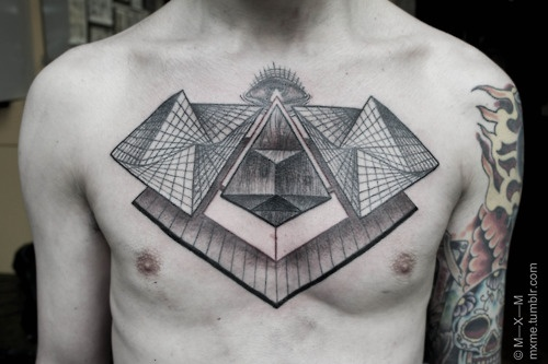 by mxm #chest #tattoos