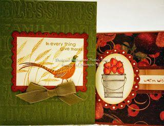 Autumn handmade cards