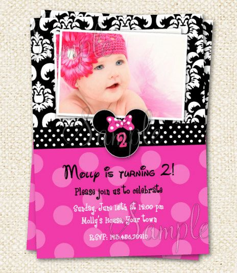 Minnie Mouse Birthday invites