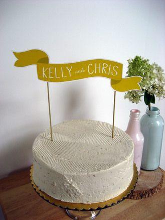 Custom Cake Banner
