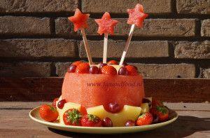 fresh fruit watermelon cake
