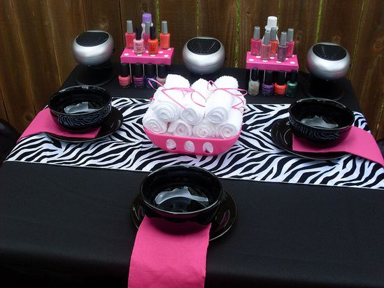 Glamour Avenue Parties - Zebra Spa Party by Courtney Price: Glamour Avenue Parties, via Flickr