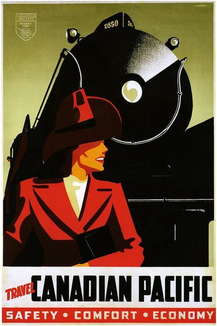 Canadian Pacific vintage train travel poster