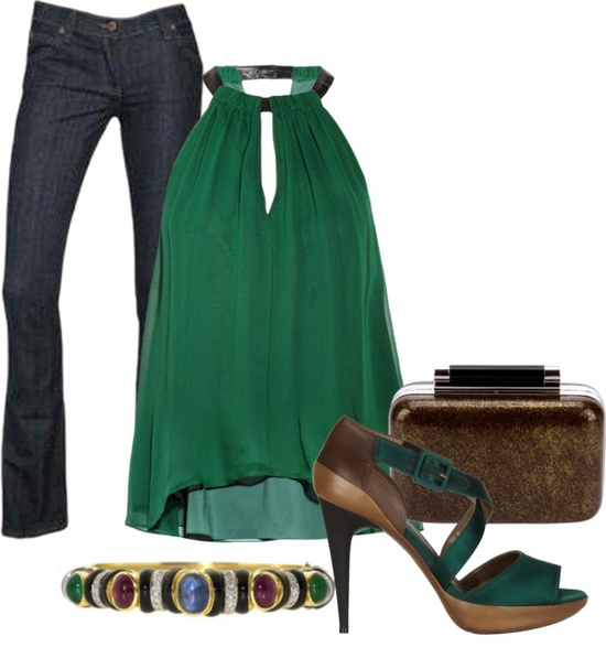 """Jewel Tone Contest: Emerald"" by sannroberts on Polyvore"