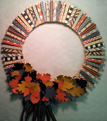 Stampin' Up!, Clothes Pin Wreath, Designer Series Paper, Big Shot, Autumn Accents Bigz Die, Fall, Thanksgiving, Home Decor