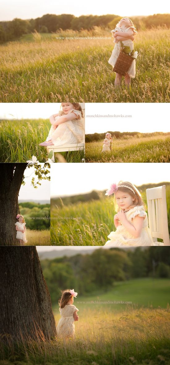 4 year old girl in field www.munchkinsandm...