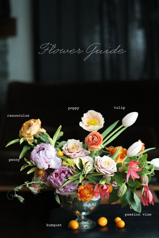 gorgeous arrangement with flower guide