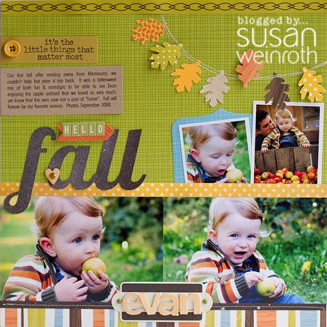 #papercraft #scrapbook #layout    Hello Fall