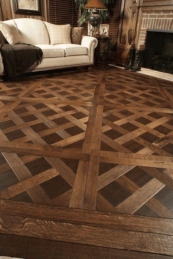 Wood floor. This is beautiful.