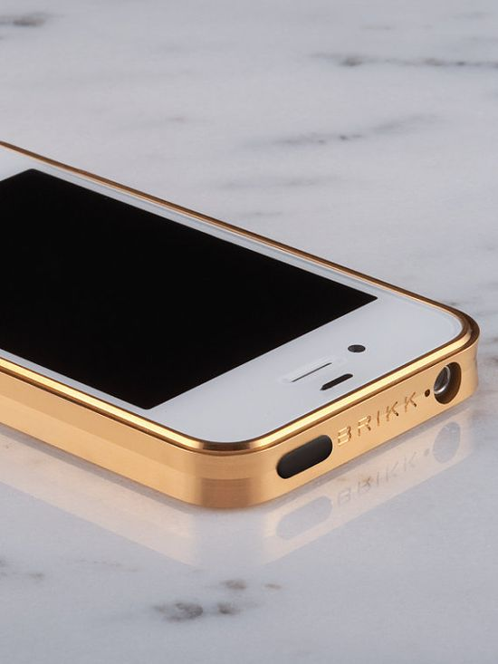 Gold IPhone case.  (I'd rather wear my gold but this is cool).