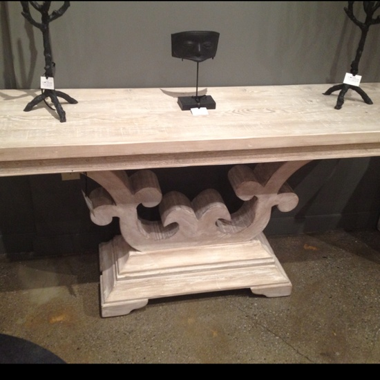 Scroll console table by Noir. Find it in Innerhall #hpmkt