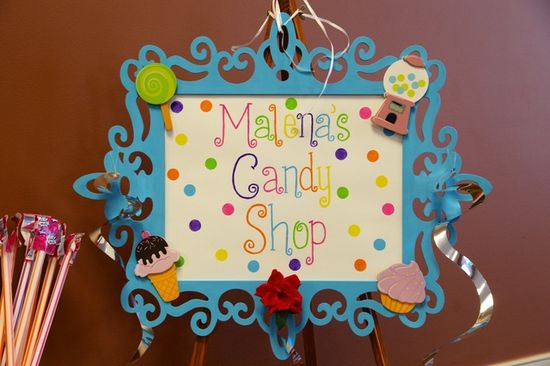 Sign for a Candy Party #candy #partysign