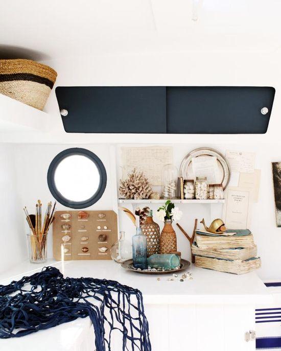 Travelling Wares by Kara Rosenlund: interior with seaside theme