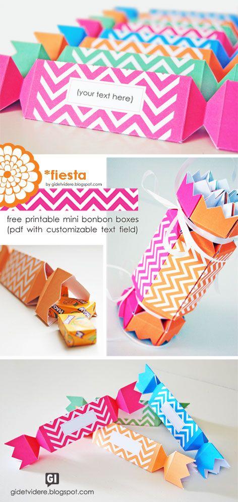 Free printable mini bonbon boxes