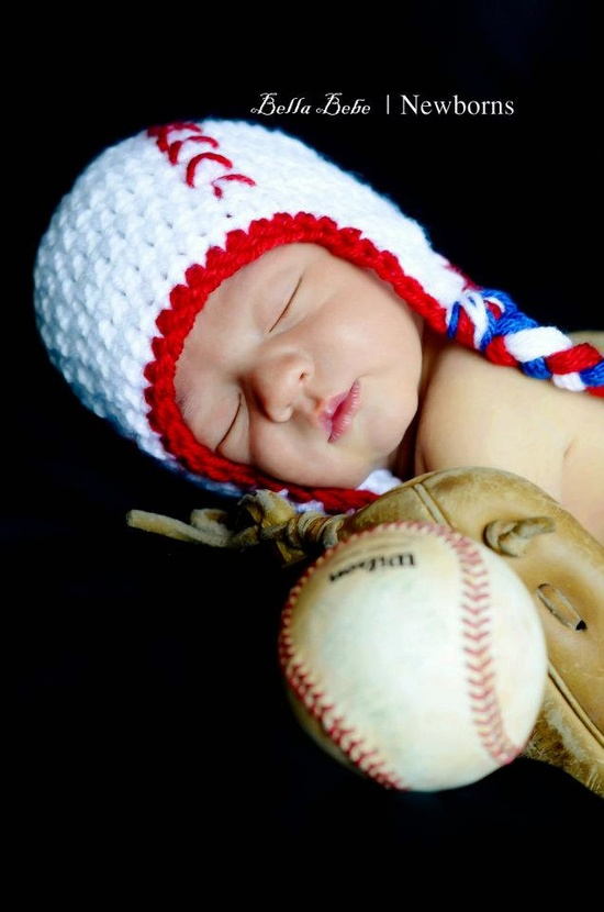 Happy Baby Baseball Hat. $25.00, via Etsy.