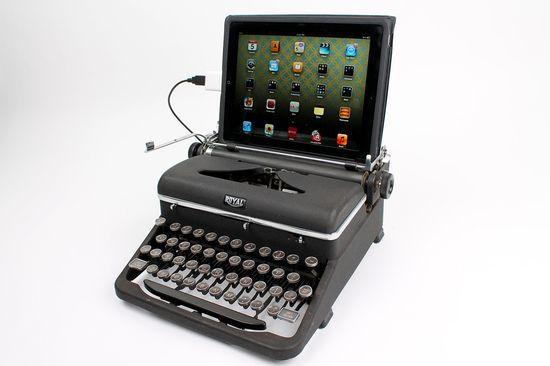 Haha wow. USB Typewriter Computer Keyboard -- Royal Aristocrat c. 1945
