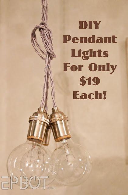 EPBOT:  DIY pendant lights for only $19 each! www.epbot.com/...