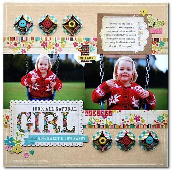 #papercraft #scrapbook #layout All Girl - Scrapbook.com  Wendy Schultz onto Scrapbook Art.