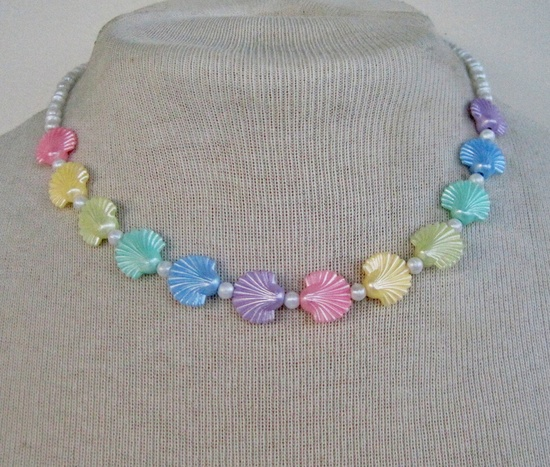 80s Pastel Rainbow Necklace