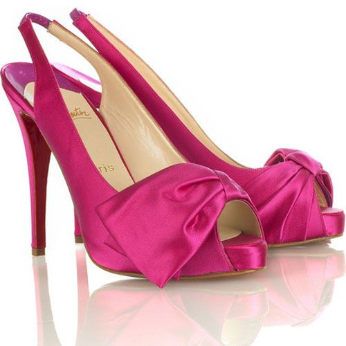 Christian Louboutin Very Noeud Slingback Shoes Pink
