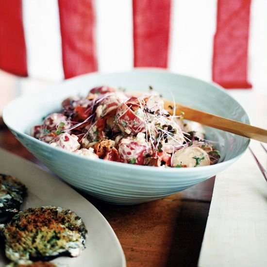 Potato Salad with Bacon and Barbecue Sauce // More Grilling Side Dishes: www.foodandwine.c... #foodandwine