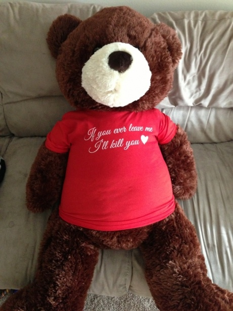 Not so romantic Valentine bear