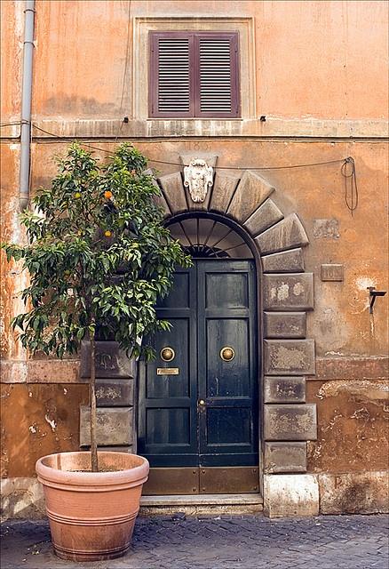Roman door.