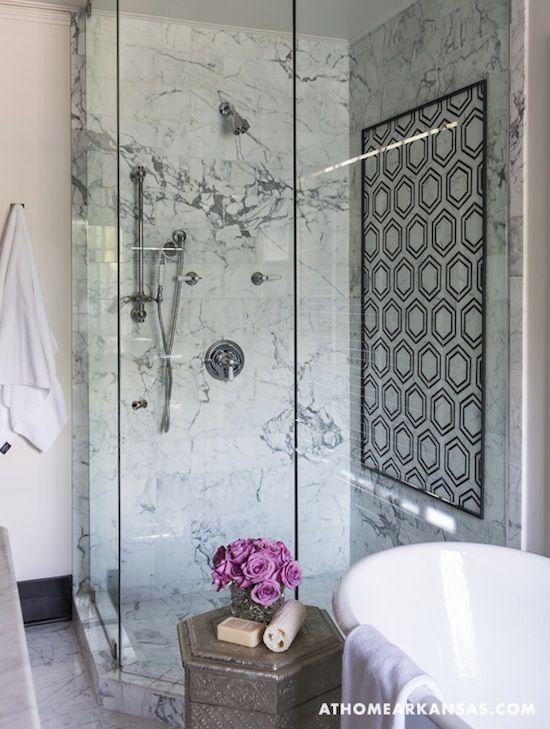 Graphic Modern Bath via At Home in Arkansas