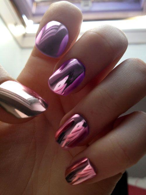 Metallic  Love the metallic nail polish!