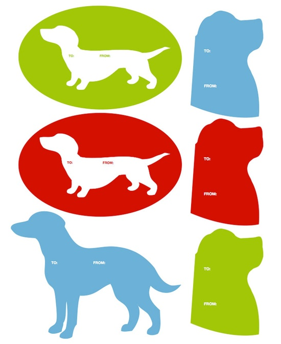 downloadable holiday gift tags from Modern Dog Mag