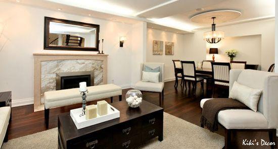 Furniture Arrangement around Fireplace