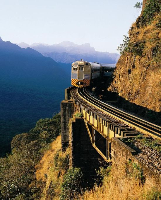 Curitiba,Porto Alegre, Brasil train travel.