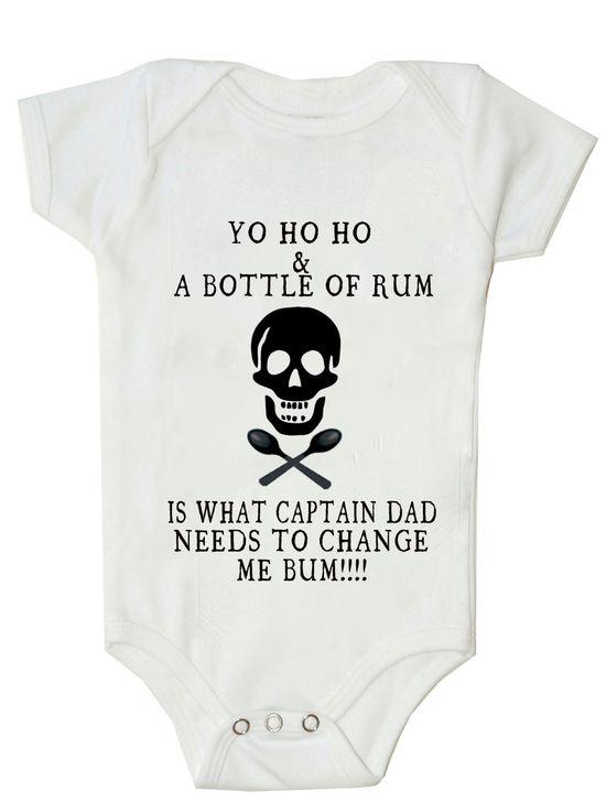 Funny Baby Onesie Funny Bodysuit Baby Pirate. $14.99, via Etsy.