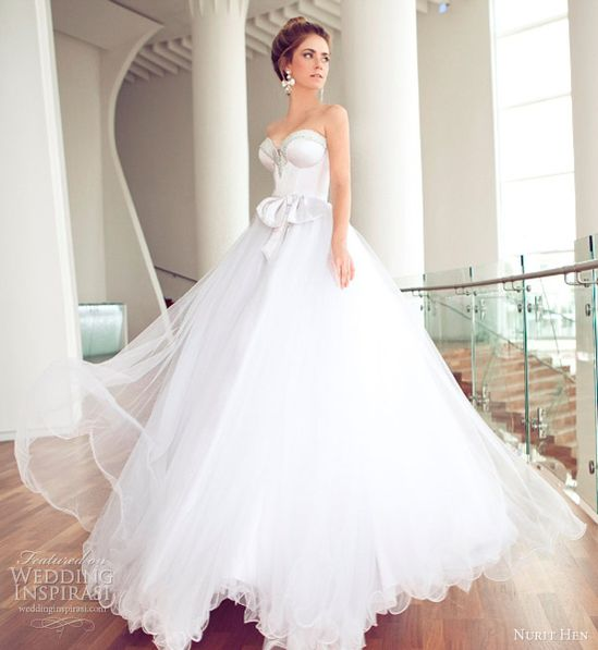 nurit hen wedding dresses 2013 strapless ball gown