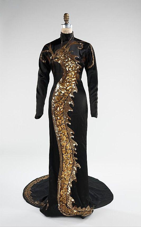 Evening Dress - 1934 - by Travis Banton (American, 1894-1958) - Silk