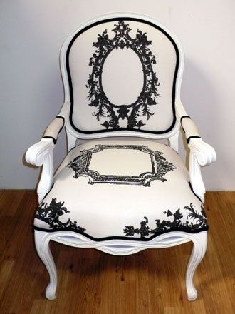 black and white silhouette chair
