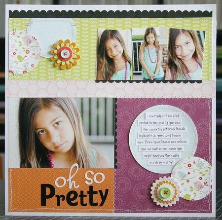 scrapbook layout Oh So Pretty