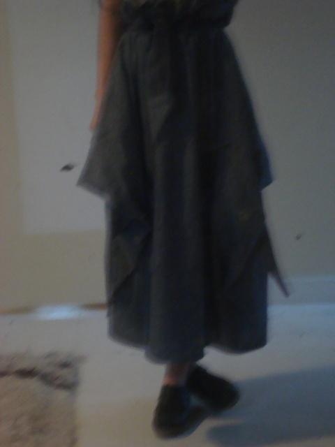 sasha's handmade skirt.