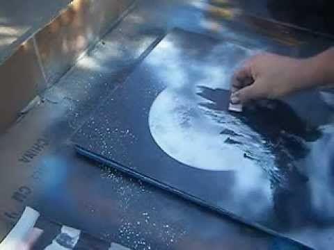 ? ferfect spray paint art.