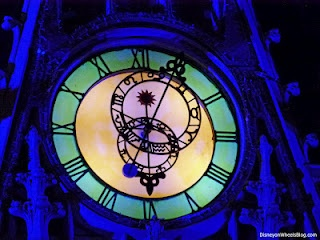 Clock on Cinderella Castle, I take a pic like this every year.